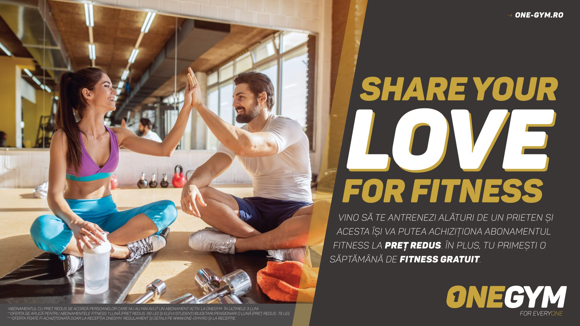 SHARE YOUR LOVE FOR FITNESS