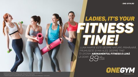 LADIES, IT'S YOUR FITNESS TIME!